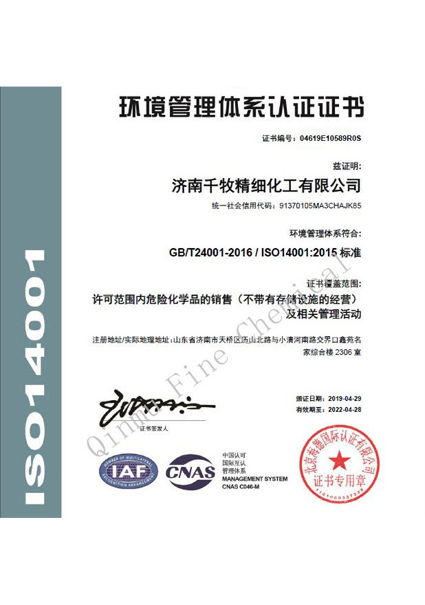 ISO 14001 CHINESE VERSION